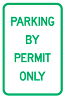 Parking By Permit Only Sign