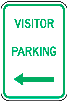 Visitor Parking Sign (with left arrow)