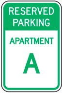 Reserved Parking Apartment (custom) Sign