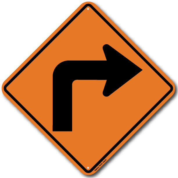 W1-1R Right Turn Sign