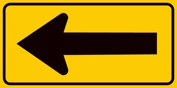 Single Sided Arrow Sign