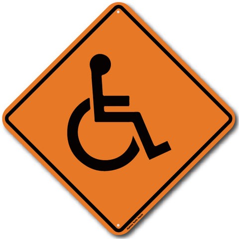 W11-9 Wheelchair construction sign