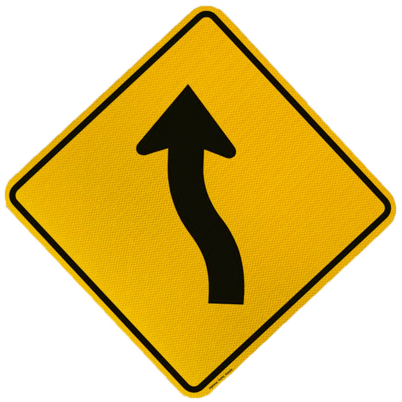 Multi Curve Sign (Left Arrow)