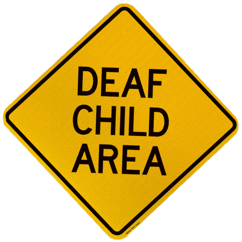 W16-4 Deaf Child Area Sign