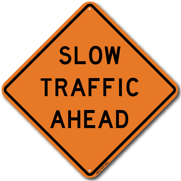 W23-1AZ Slow Traffic Ahead Sign