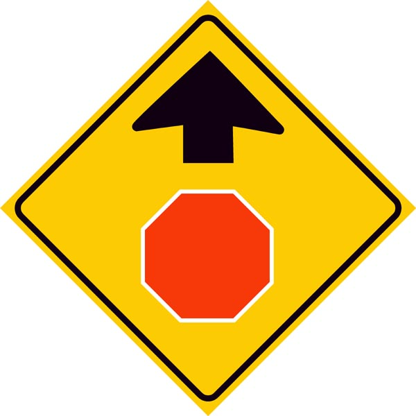 Stop Ahead Symbol Sign