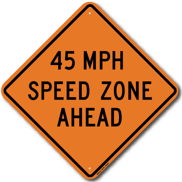 W3-5a 45 MPH Speed Zone Ahead