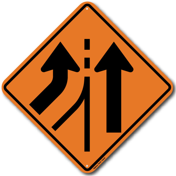 W4-3L Left Lane Added Sign