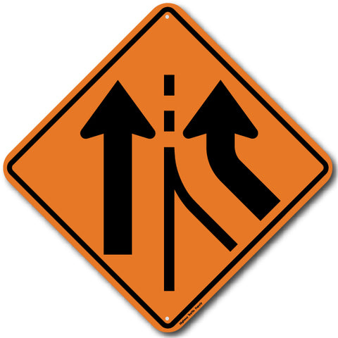 W4-3R Right Lane Added Sign