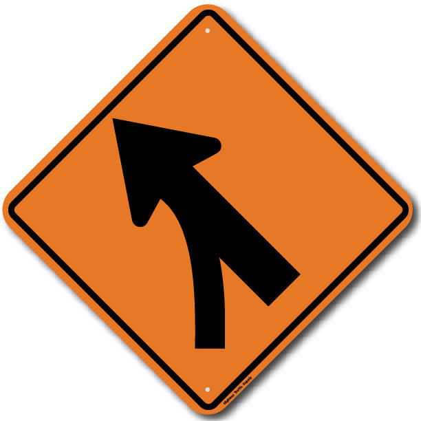 W4-5L Entering Roadway Merge (Left) Sign