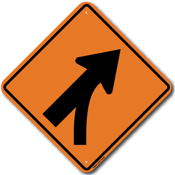 W4-5R Entering Roadway Merge (Right) Sign