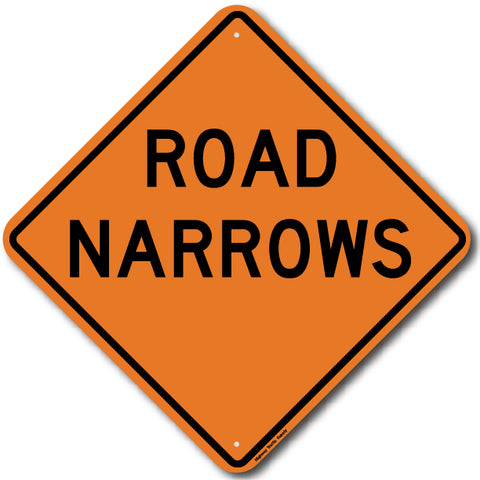 W5-1 Road Narrows Sign