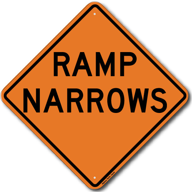 W5-4 Ramp Narrows Sign