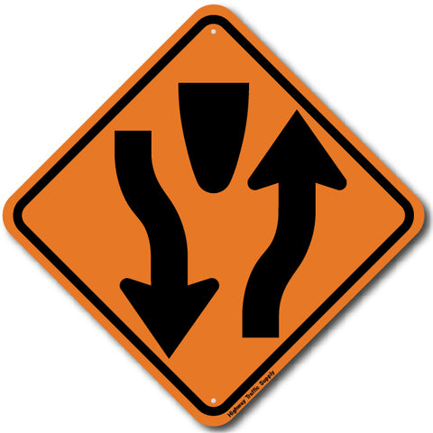 W6-1 Divided Highway (Symbol) Sign