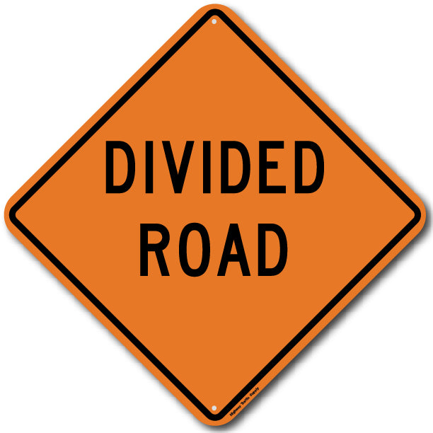 W6-1b Divided Road Sign