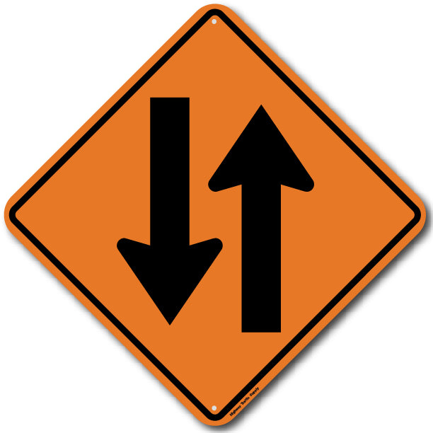 W6-3 Two Way Traffic Sign