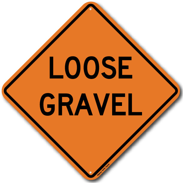W8-7 Loose Gravel Sign