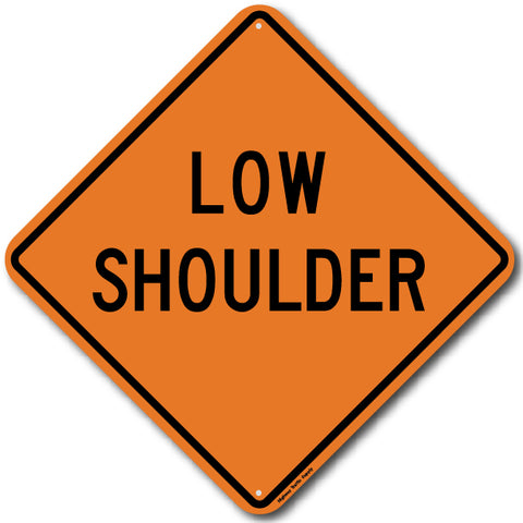 W8-9 Low Shoulder Sign