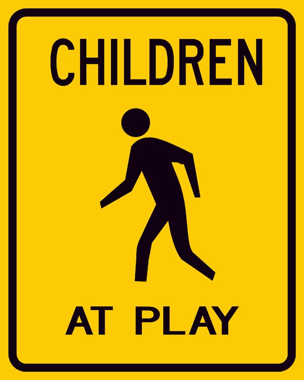 W9-11 Children at Play Sign