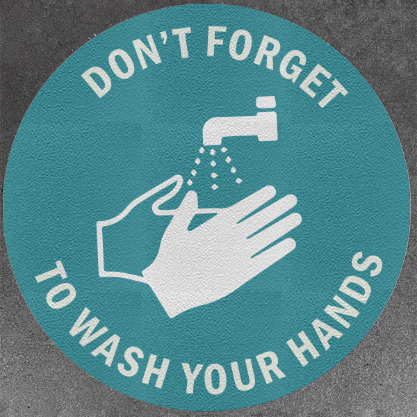 Don't Forget To Wash Your Hands Decals (Pack of 5)