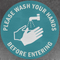Please Wash Your Hands Before Entering Decals (Pack of 5)