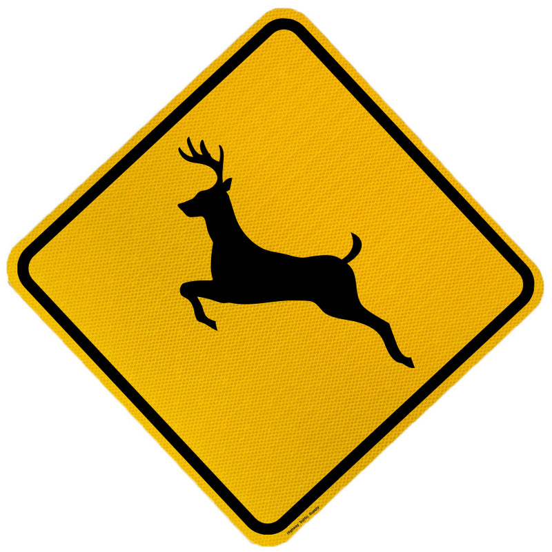W11-3 Deer Crossing X-Ing Sign