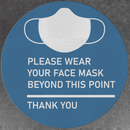 Please Wear Your Face Mask Decals (Pack of 5)