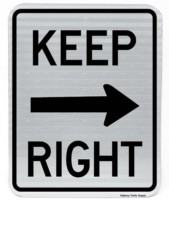 R4-7a Keep Right Sign