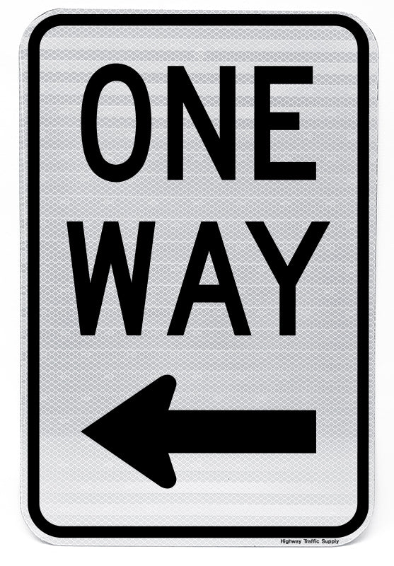 One Way Sign (Left)