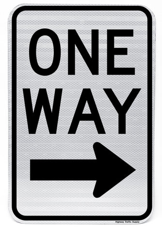 One Way Sign (Right)