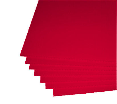 "Red Corrugated Plastic 18""x24"" 4mm Sign Blanks"