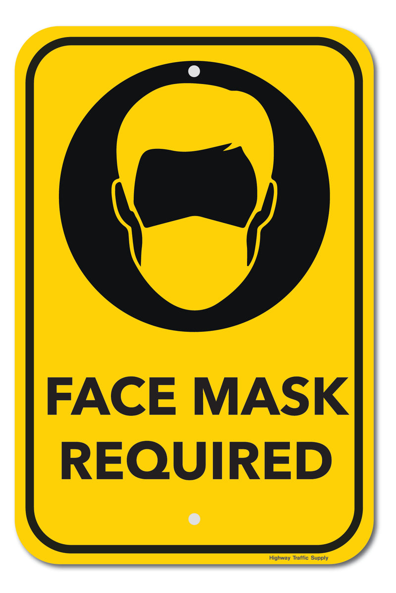 Face Mask Required Sign