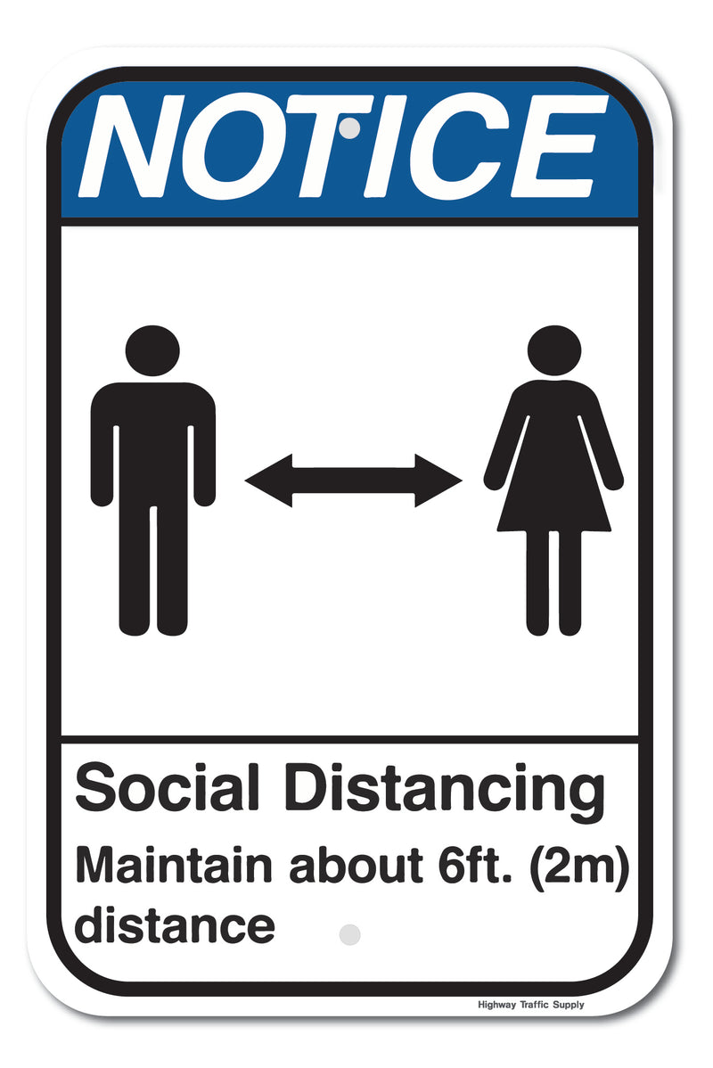 Notice Social Distancing Sign