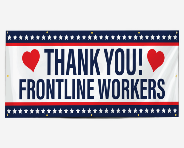 Thank You Frontline Workers Banner