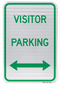 Visitor Parking Sign (with double arrow)