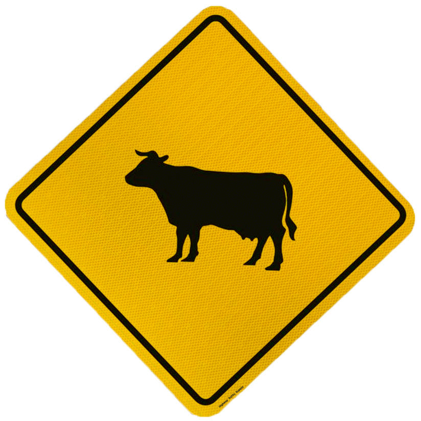 W11-14 Cattle X-Ing Sign