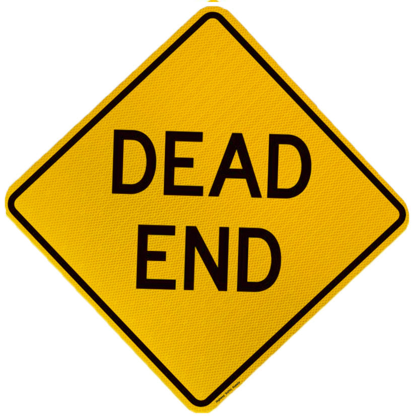 W14-1 Dead End Sign