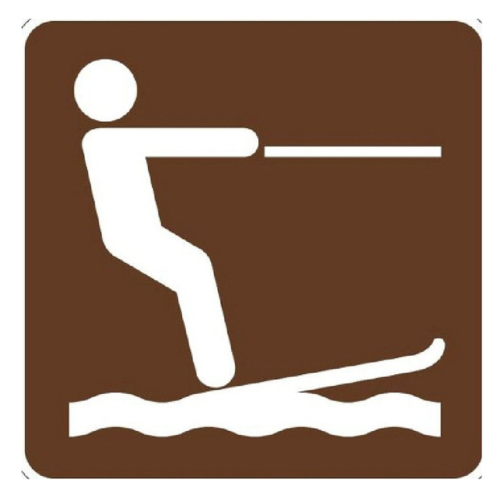 National Parks Service Waterskiing (Symbol) Sign