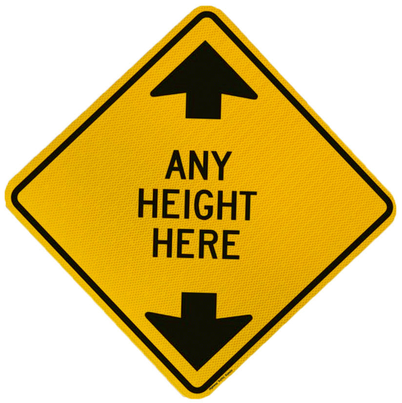 Custom Clearance Height Sign