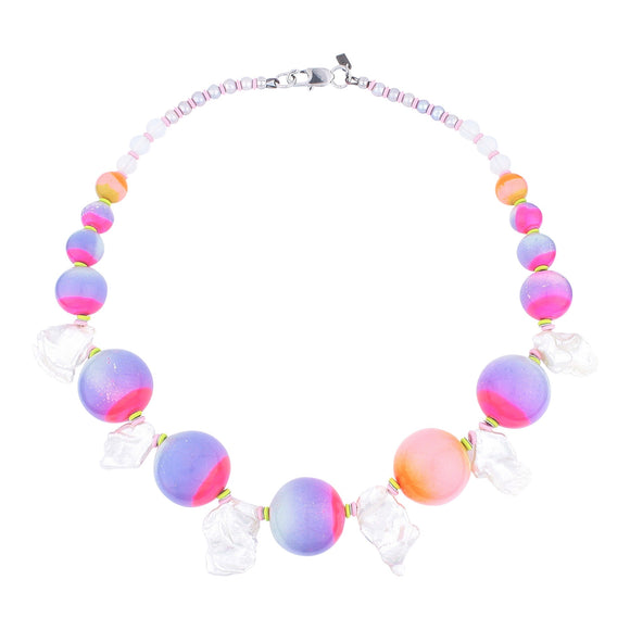 Limited edition, Celestial colour pop statement necklace
