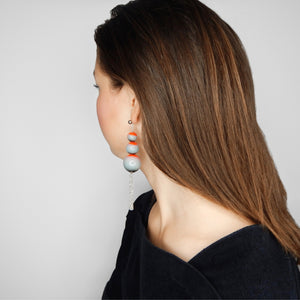 beuy - bёuy - Cascading universe glass earrings - lava - Strata