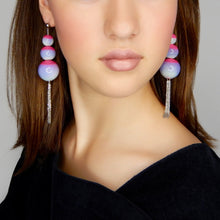 Load image into Gallery viewer, beuy - bёuy - Cascading universe glass earrings - carnival - Strata