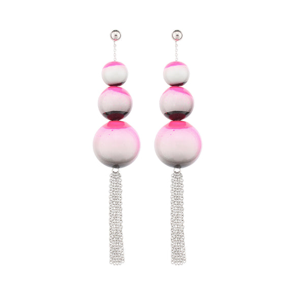 beuy - bёuy - Cascading universe glass earrings - hosier - Strata
