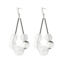 Load image into Gallery viewer, Empress glass earrings - jet black