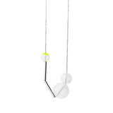 Gravity glass necklace - citrus yellow