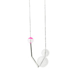 Gravity glass necklace - hot pink