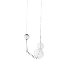 Load image into Gallery viewer, Gravity glass necklace - jet black