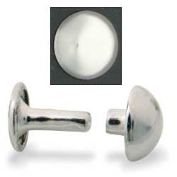 Domed Rivets-Nickel Plated 100/pk