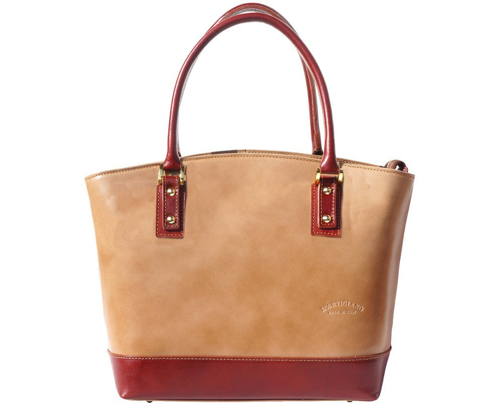 "Hard Calf Leather ""Tote"" Handbag Multi Colors"