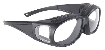Defender-Clear/Black Can be Worn over Eye Glasses